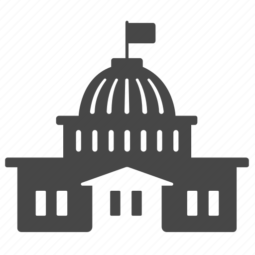 building, capital city, congress, parliament, political, washington, white house icon