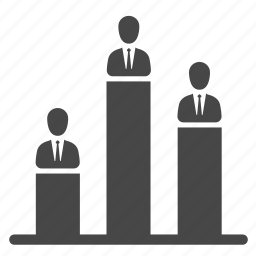 candidates, competitors, congressman, politician, rank, report, senators icon