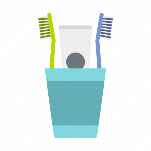 cup, dental, health, healthy, hygiene, toothbrushes, toothpaste icon