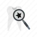 care, clean, dental, dentist, inspection, medicine, tooth icon