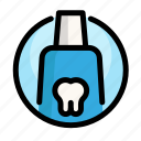 caries, dental, dentist, medical, tooth, toothpaste icon