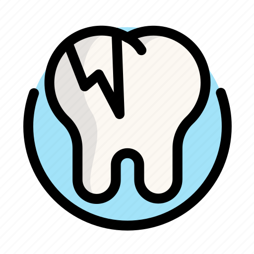 caries, dental, dentist, destruction, medical, tooth icon