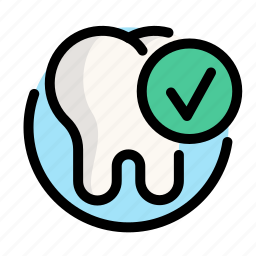 dental, dentist, done, medical, tooth icon