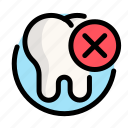 deleting, dental, dentist, medical, tooth icon