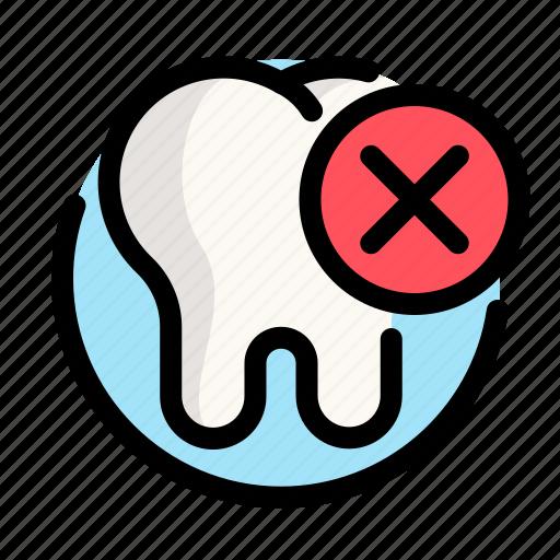 deleting, dental, dentist, medical, tooth icon