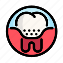 caries, dental, dentist, medical, plaque, tooth icon