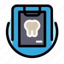 caries, dental, dentist, medical, tooth, xray icon