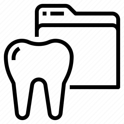 dental, document, medical, records icon