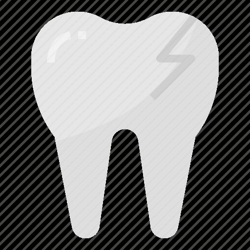 broken, dental, dentist, medical, tooth icon