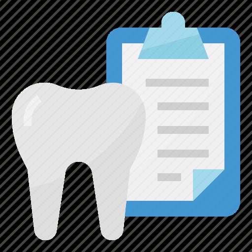 dental, document, healthcar, medical icon