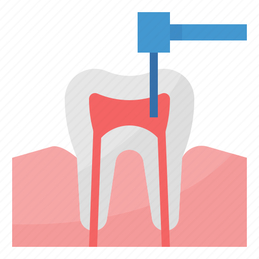 canal, dental, healthcare, medical, root icon