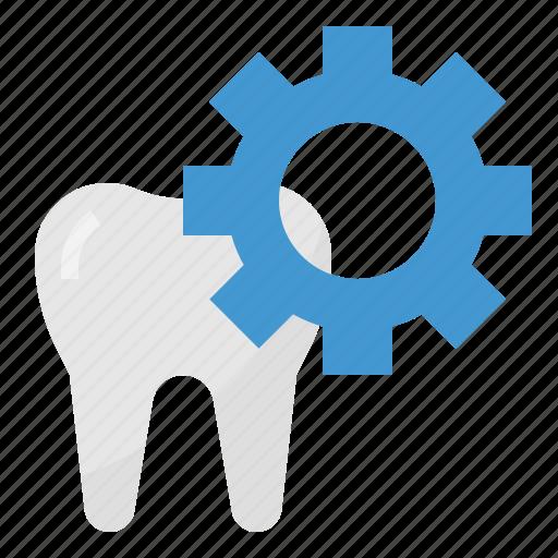 Healthcar, dental, setting, medical, teeth icon