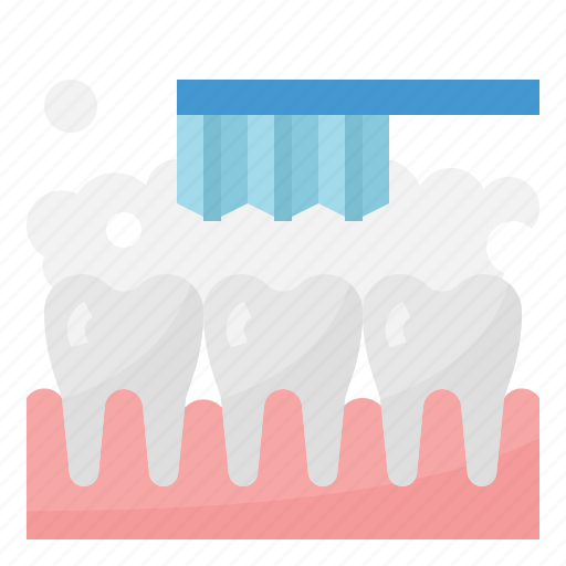Cleaning, dental, brush, tooth icon