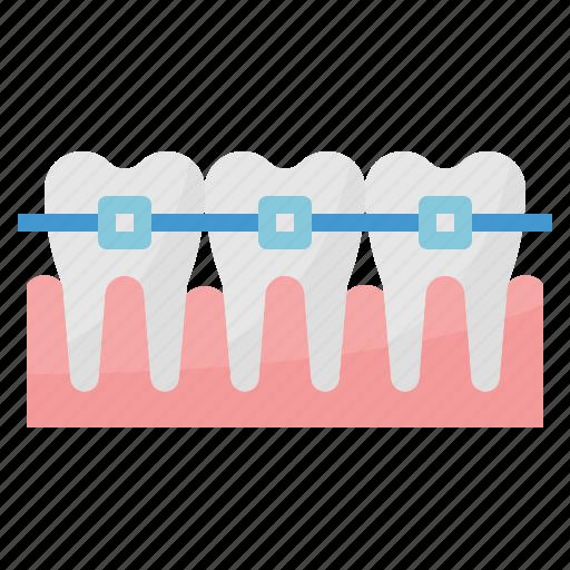 dental, healthcare, medical, orthodontics, tooth icon