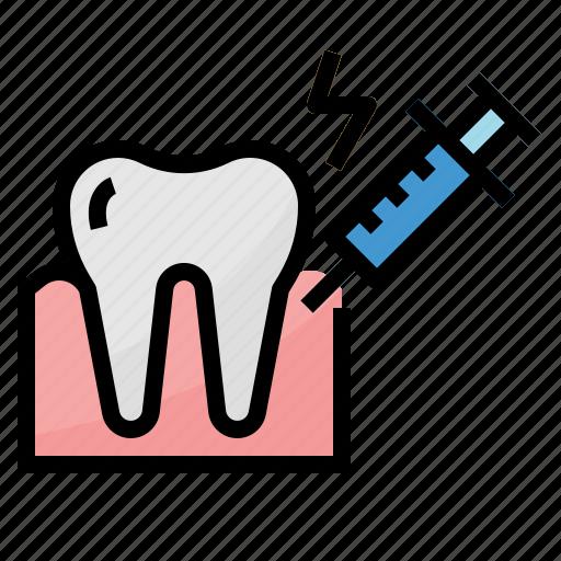 anesthetic, dental, healthcar, medical icon