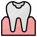 decayed, dental, healthcar, medical, tooth icon