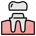crown, dental, healthcare, medical icon