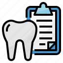 dental, document, healthcar, medical icon