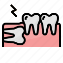 dental, healthcar, impacted, medical, tooth icon