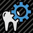 dental, healthcar, medical, setting, teeth icon