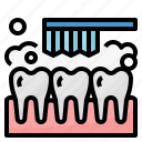 brush, cleaning, dental, tooth icon