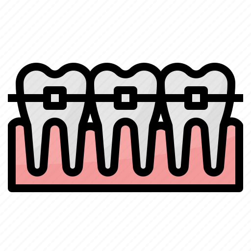 dental, healthcare, medical, orthodontics, tooth icon