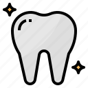 dental, healthcare, tooth, white icon