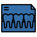 dental, healthcar, medical, ray, x icon