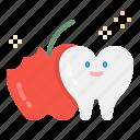 apple, dental, dentist, teeth, ttooth icon