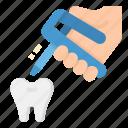 dental, dentist, gun, repair, tooth icon