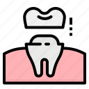 crown, dental, dentist, healthcare, tooth icon