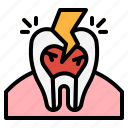 cold, hypersensitive, pain, teeth, tooth icon