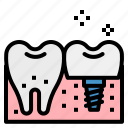 dental, dentist, implant, odontology, premolar icon