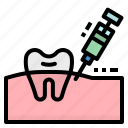 anesthesia, dentist, gum, injection, syringe icon