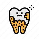 dental, dentist, healthcare, plaque, tooth icon
