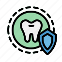 care, healthcare, protection, teeth, tooth icon