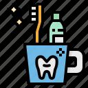 brushing, dentist, teeth, tooth, toothbrush icon