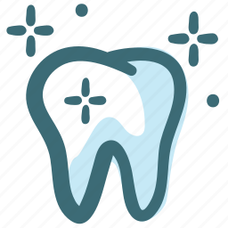 bright, clean, dental, dental care, dentist, tooth, white tooth icon
