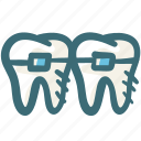 braces, care, dental, doodle, orthodontic, teeth, treatment