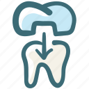 dental, dental crown, dental treatment, dentist, doodle, tooth icon