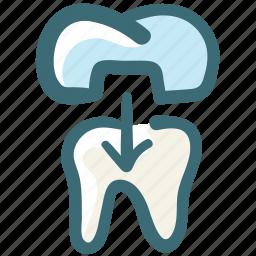 dental, dental crown, dental treatment, dentist, doodle, tooth icon