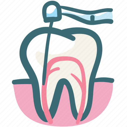 dental, dental treatment, dentist, gum, gums tooth, root canal, tooth icon
