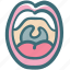 dental, dentist, doodle, oral, oral hygiene, tongue, uvula icon
