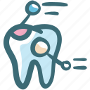dental, dental records, dentist, dentistry, detail, doodle, x rays icon