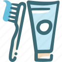clean teeth, dental, dentist, dentistry, oral hygiene, toothbrush, toothpaste icon