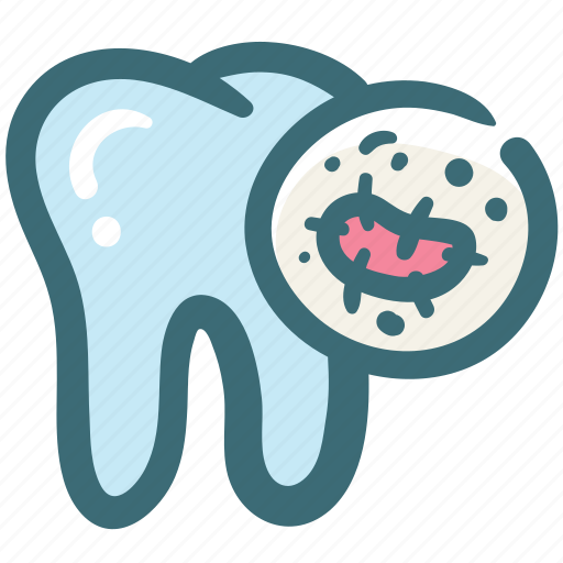 bacteria, dental, dentist, doodle, oral bacteria, oral hygiene, tooth icon