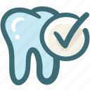 dental care, dentist, doodle, medical, oral hygiene, tooth, tooth check icon