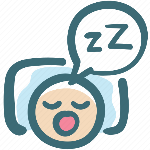 dental, dentist, doodle, oral hygiene, sleeping, snore icon