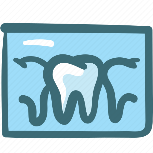 dental, dental records, dentist, dentistry, doodle, tooth, x rays icon