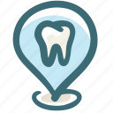 address, care, clinic, dental, doodle, location, pin